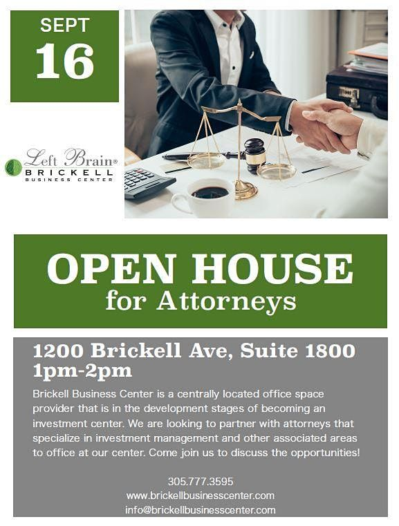 Open House for Attorneys