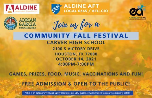 Aldine AFT's Community Fall Festival