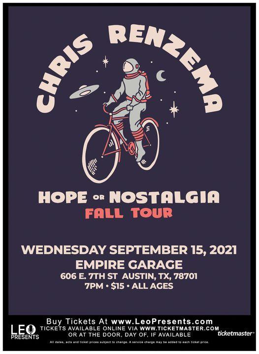 Chris Renzema - Hope or Nostalgia Fall Tour