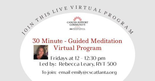 30 Minute Meditation Practice (Virtual)