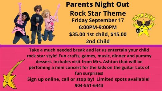 Parents Night Out-Rock Star Theme