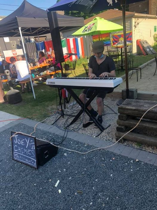 Joey Chimes - in the garden on the keys, Saturdays, 2-4 pm