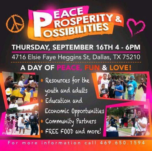 Peace, Prosperity & Possibilities