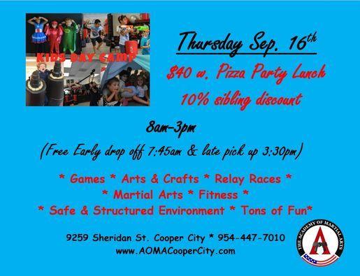 Day Camp Thursday Sep. 16th