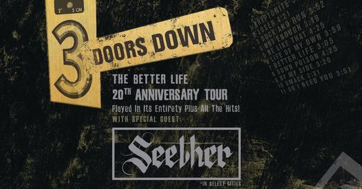 Stay Downtown for 3 Doors Down with Seether