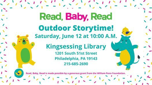 Outdoor Read, Baby, Read Storytime