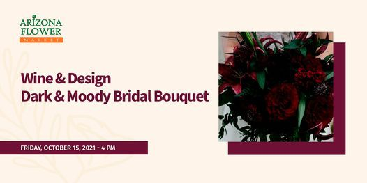 Wine & Design Dark & Moody Bridal Bouquet