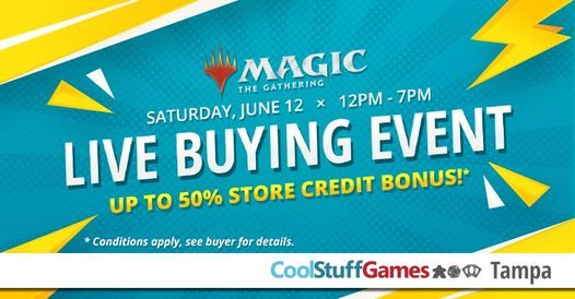 Cool Stuff Games Tampa Live Magic Buying Event