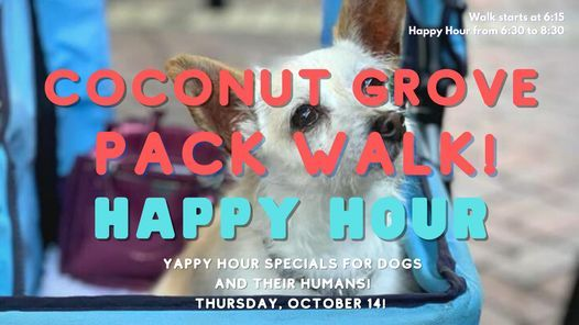 Coconut Grove Yappy Hour & Pack Walk!