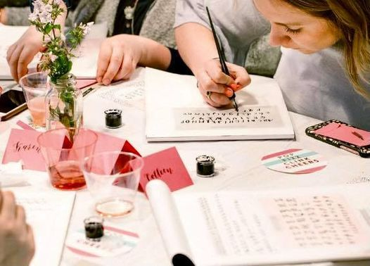 Sip and Script Calligraphy Class