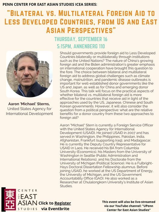 """Issues in Contemporary Asia: """"Bilateral vs. Multilateral Foreign Aid to Less Developed Countries"""""""