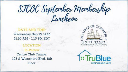 STCOC September Membership Luncheon | Florida Aquarium