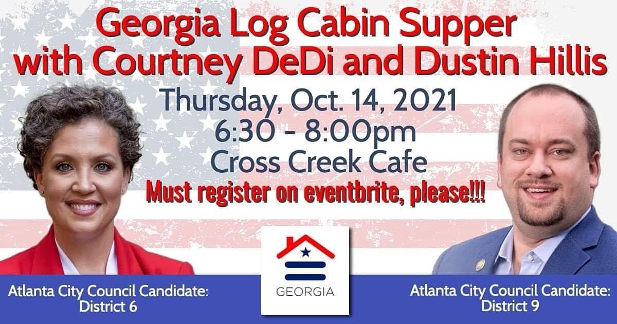 Georgia Log Cabin Supper - Thu, Oct 14th at 6:30pm
