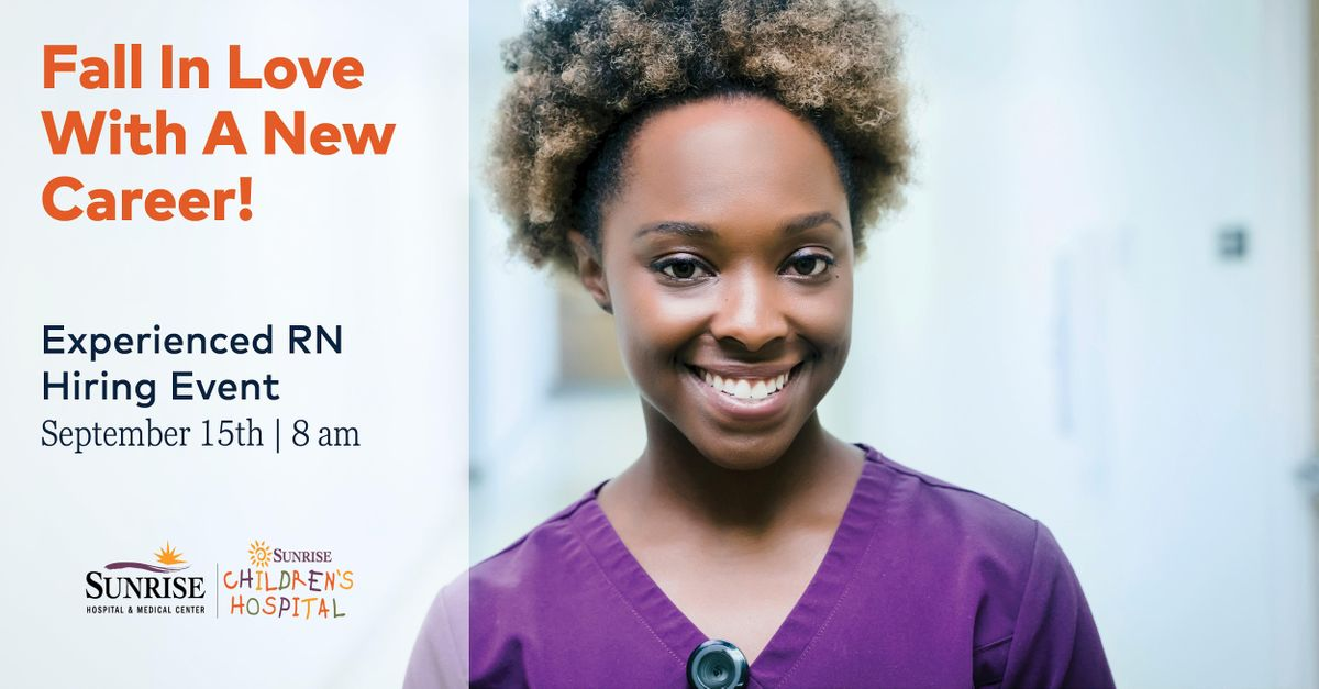 Sunrise Hospital & Medical Center Hiring Event