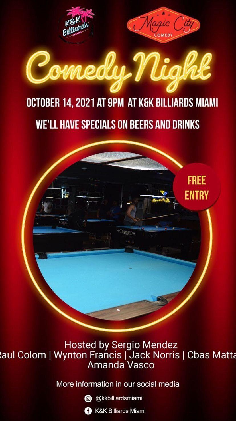 K & K Billiards Comedy Night