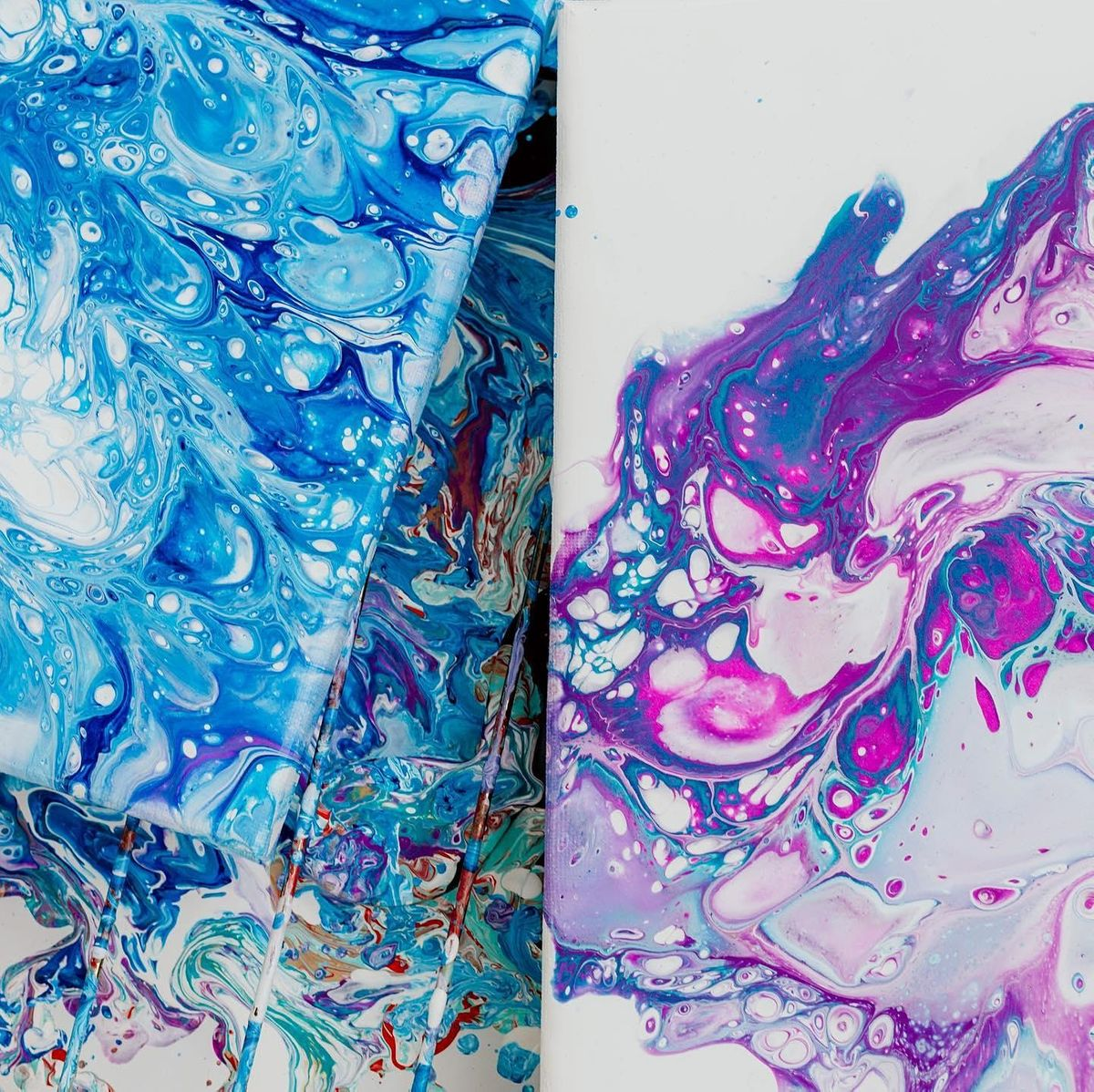 Fluid Art Workshop by the ocean