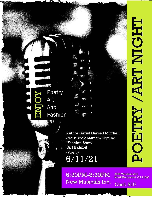 Poetry, Art & Fashion Night
