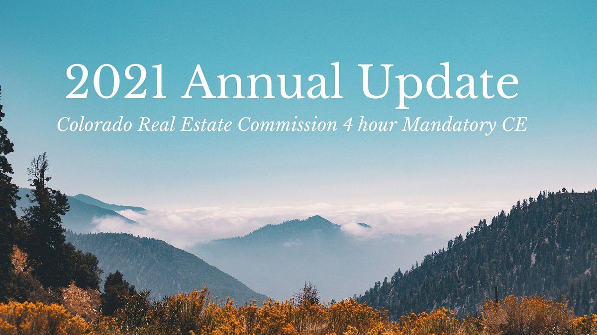 2021 CREC Annual Update 4 hour Mandatory CE