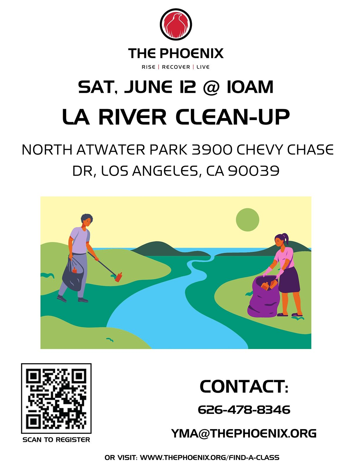 LA River Clean Up with Sober Community