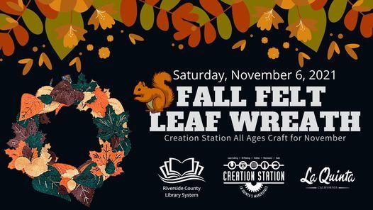 MakerCraft: Fall Felt Leaf Wreath