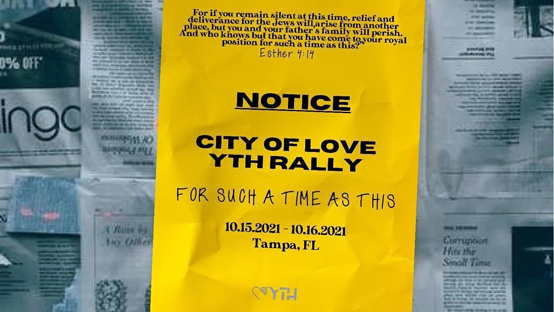 CITY OF LOVE YTH RALLY