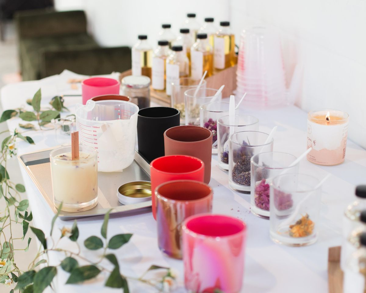 Wine + Wax: Candle Making with Walk By Faith Candles