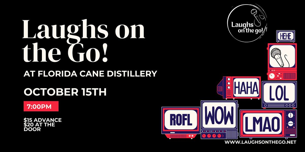 Comedy and Cocktails at Florida CANE Distillery - Live Stand Up Comedy
