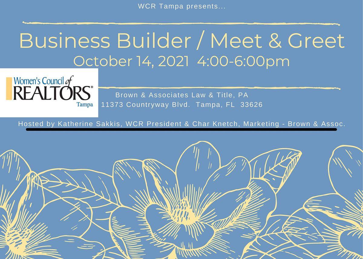 WCR Business Builder \/ Meet and Greet