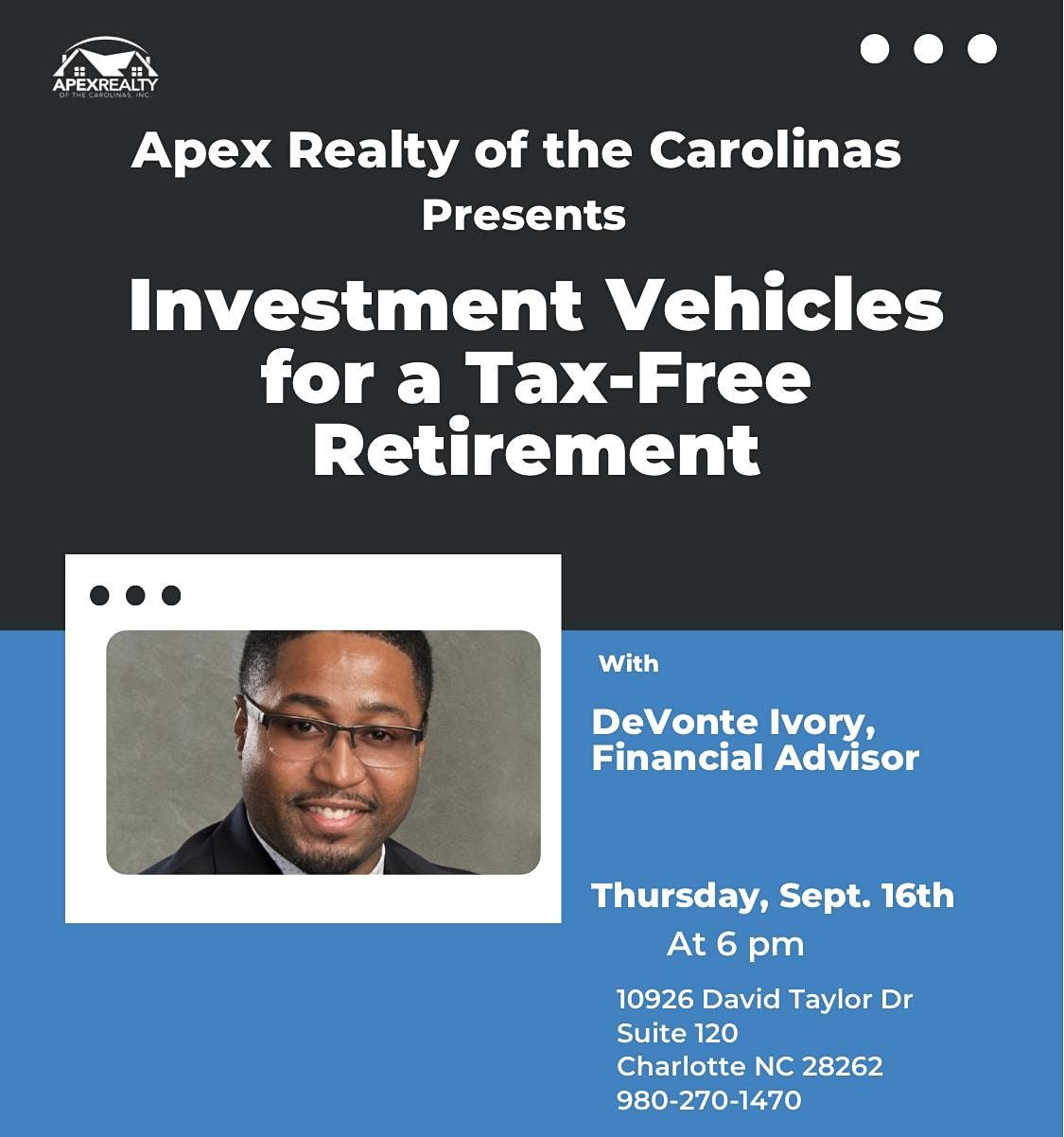 Investment Vehicles for a Tax-Free Retirement (with Devonte Ivory)