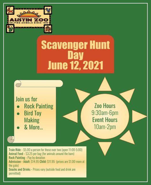 Austin Zoo Scavenger Hunt