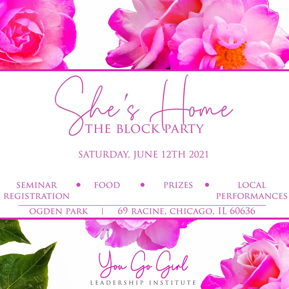 **SAVE THE DATE** She's Home: The Block Party