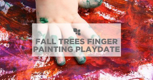 Fall Trees Finger Painting