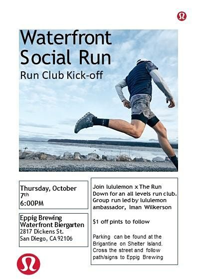 Waterfront Social Run -Run Club Kick-off!