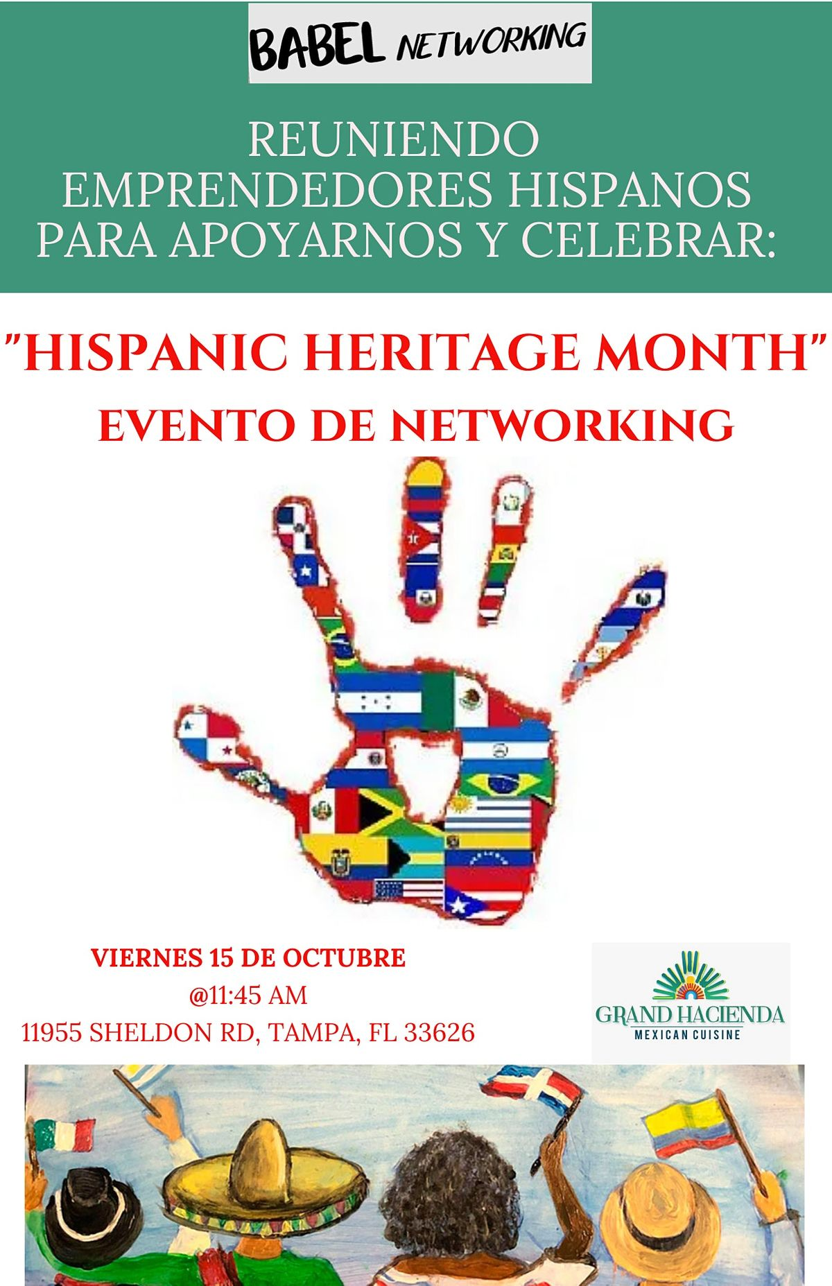 "Celebrando ""Hispanic Heritage Month""   Reunion de Networking"