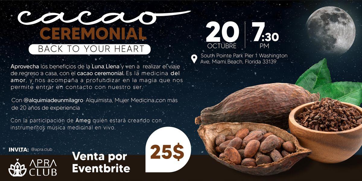 Ceremonia de Cacao de Luna Llena