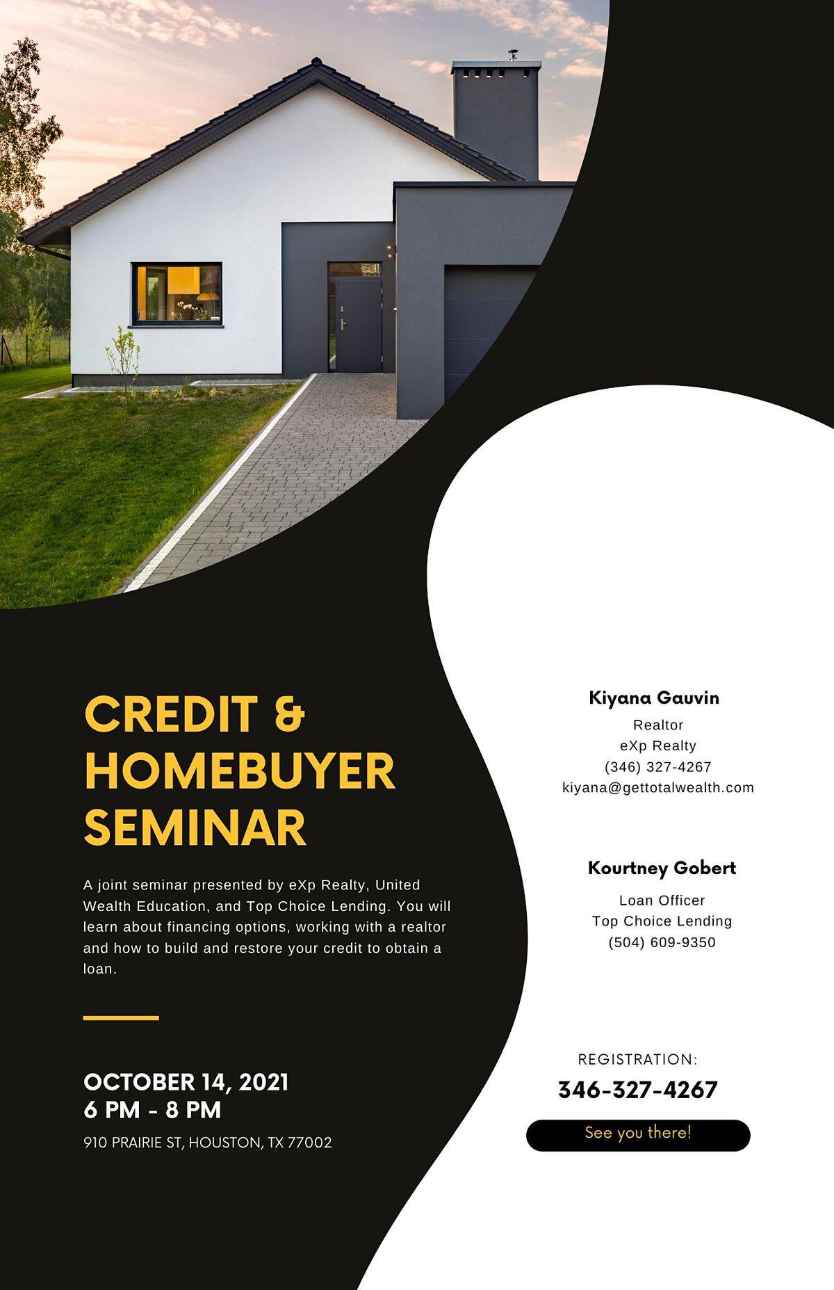 Credit & Homebuyer Seminar