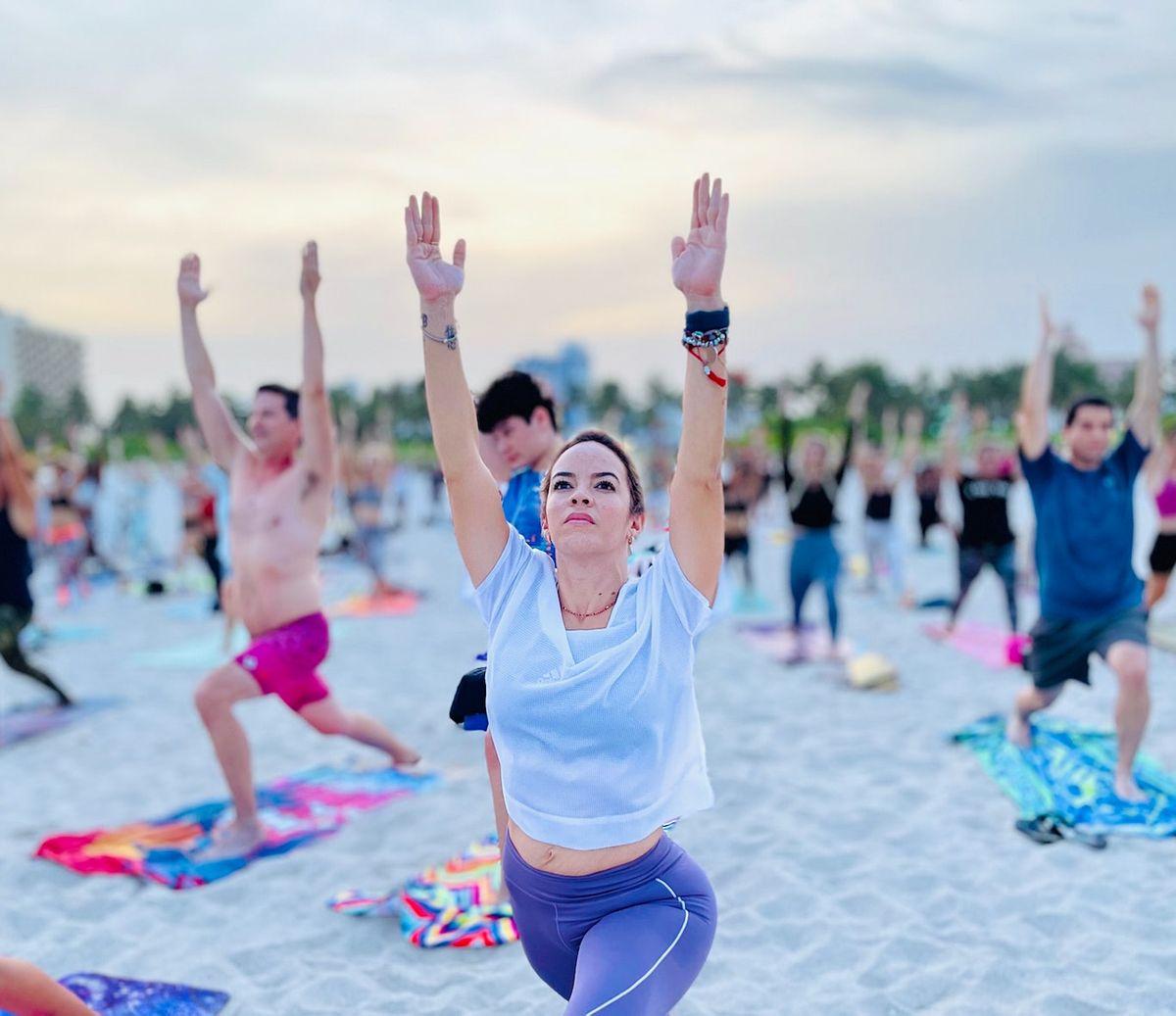 Full Moon Yoga on the Beach