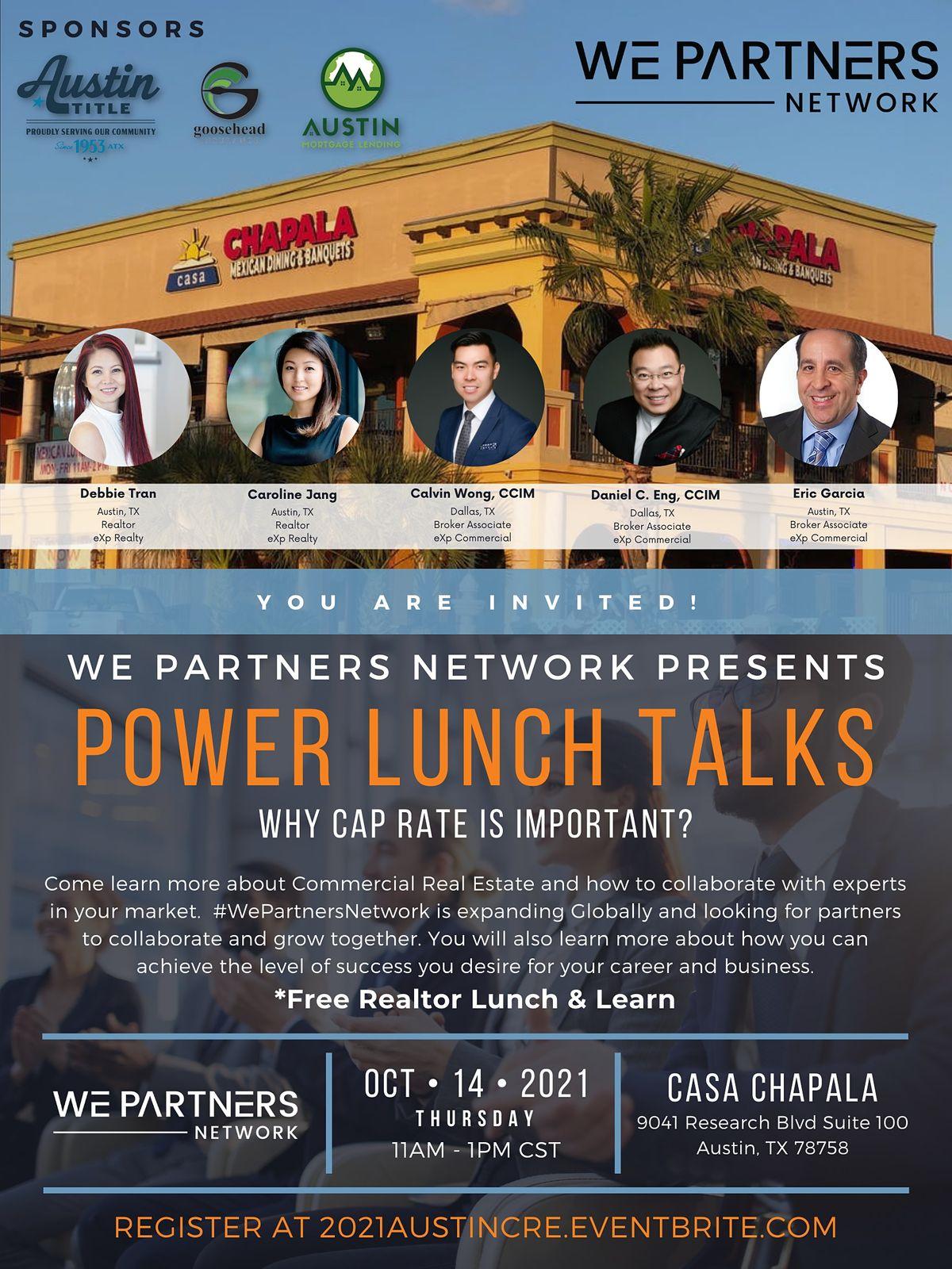 Power Lunch Talks - Realtors Meet and Greet   Casa Chapala Austin, TX