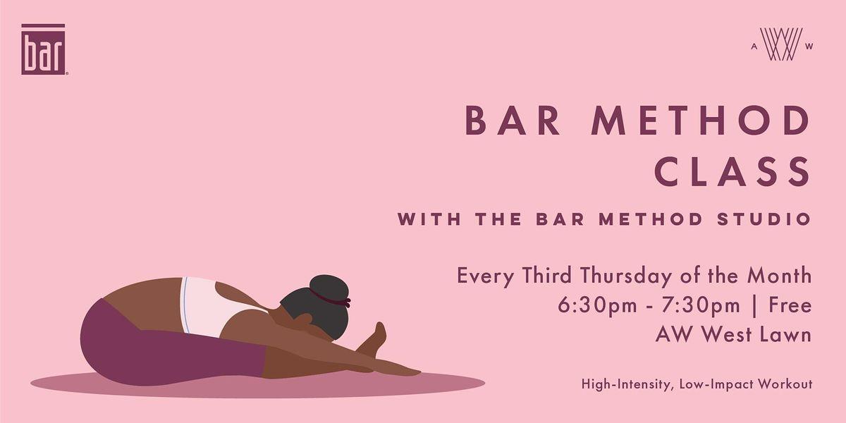 Bar Method Class - September 16th