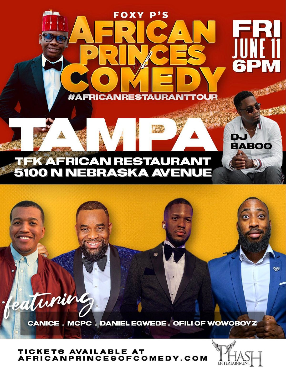 African Princes of Comedy - TAMPA (#AfricanRestaurantTour)