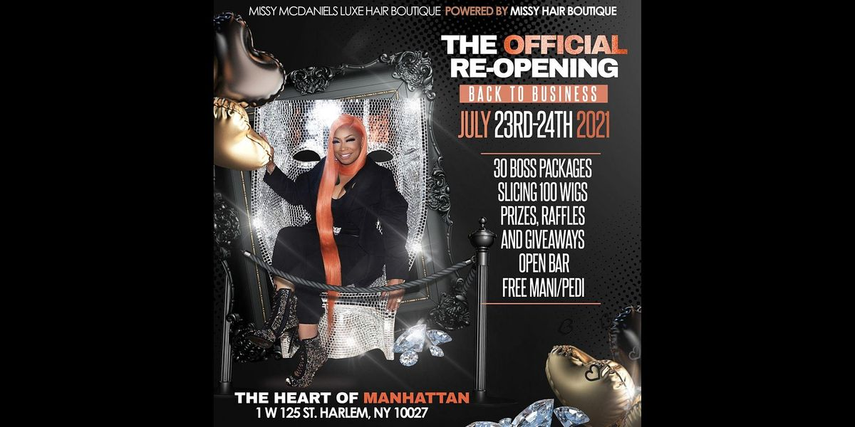 """The Official NY Re-Opening """"Back to Business"""""""