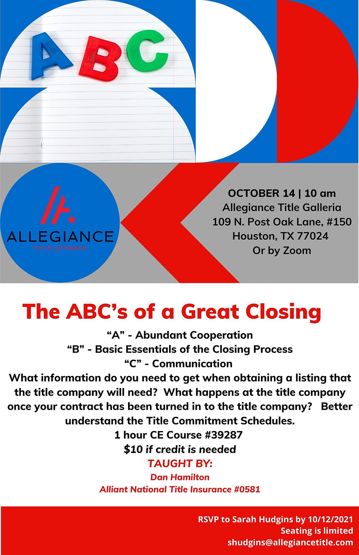 ABC's of a Great Closing