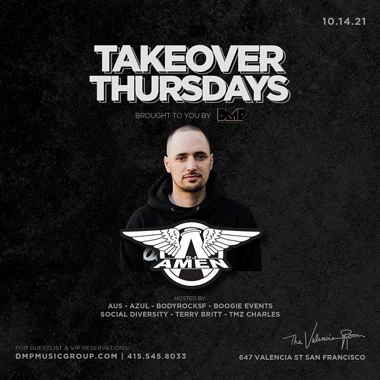 Takeover Thursdays @ The Valencia Room - 10\/14\/21