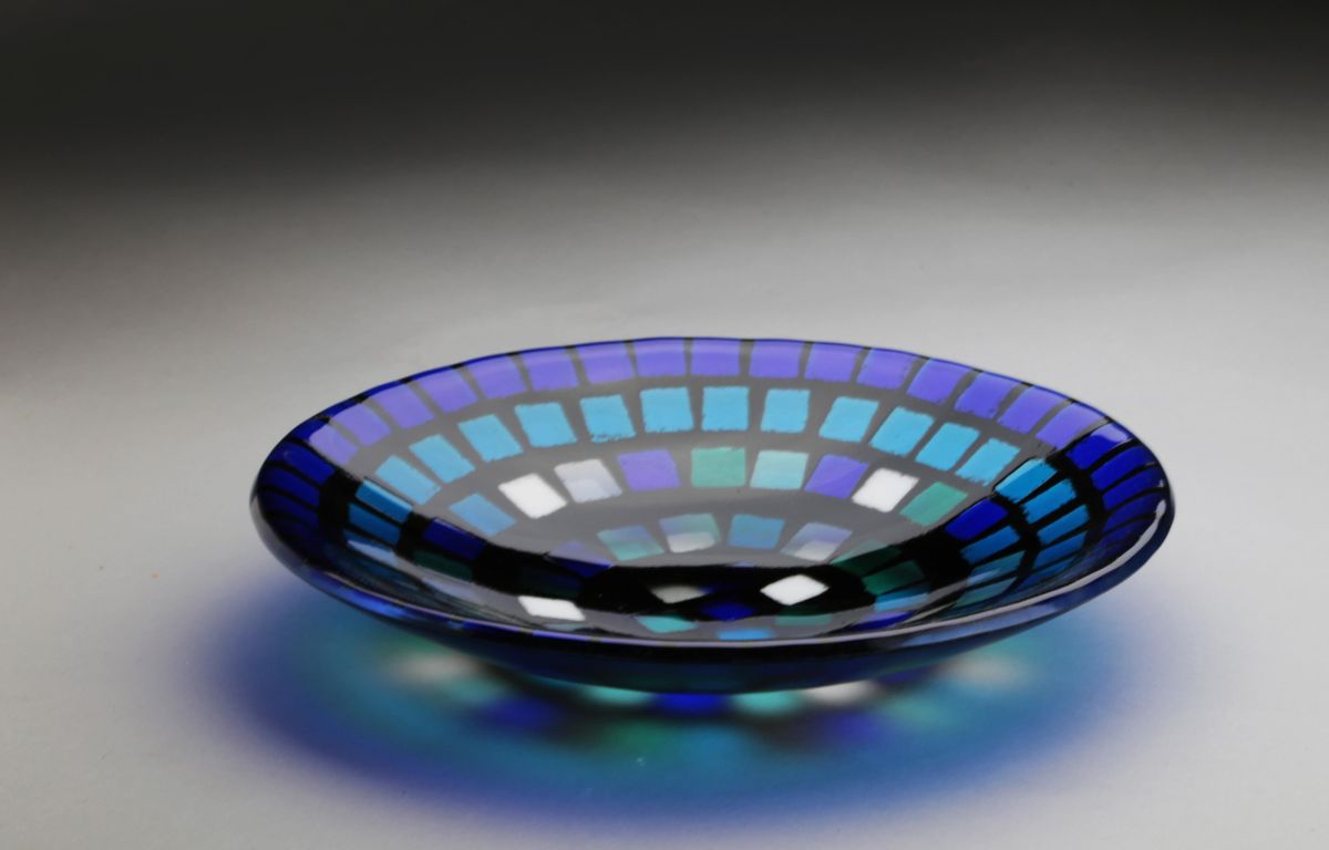 Fused Glass with Larry Pile:  Large Mosaic Bowl