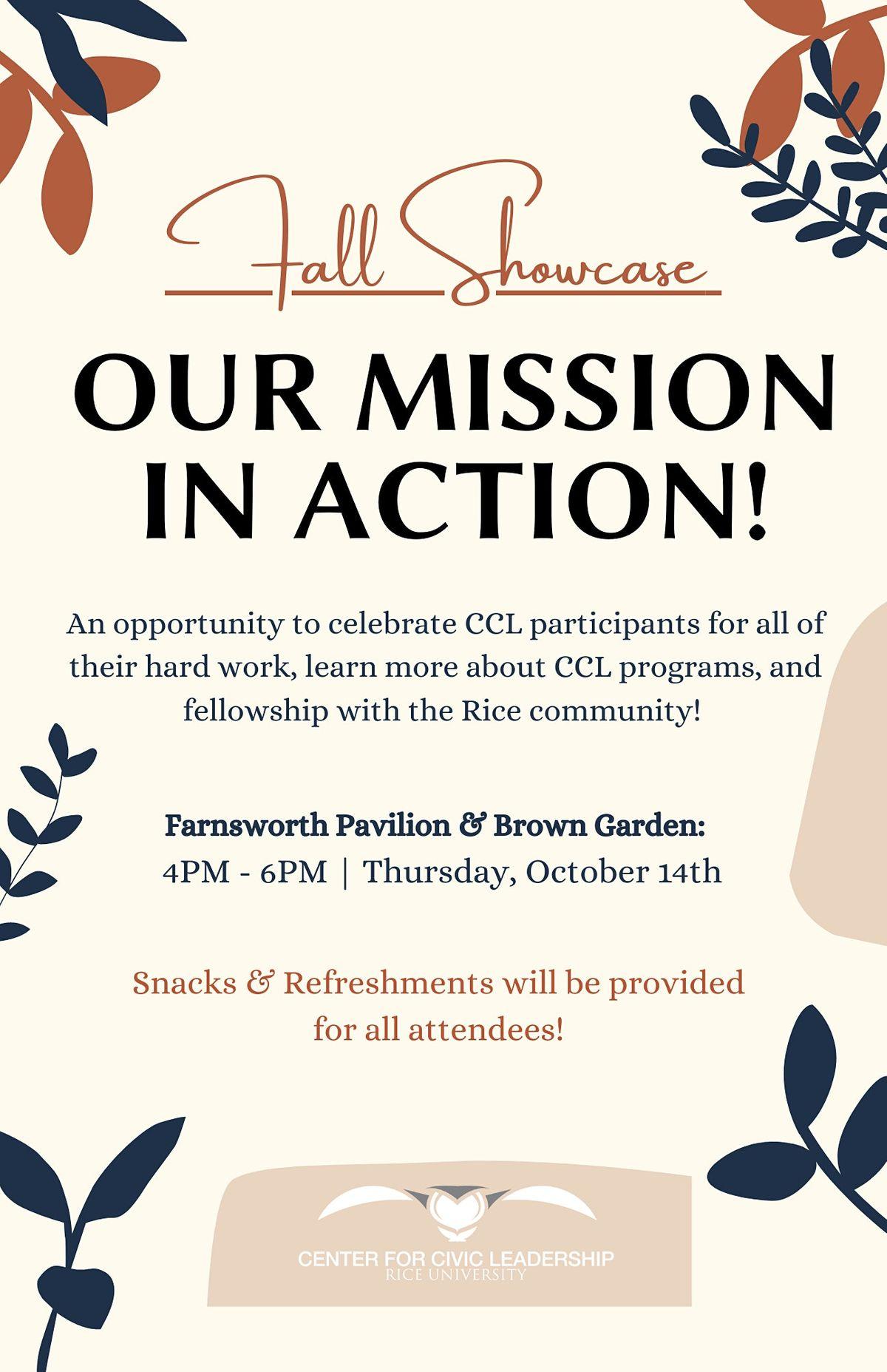 CCL Fall Showcase