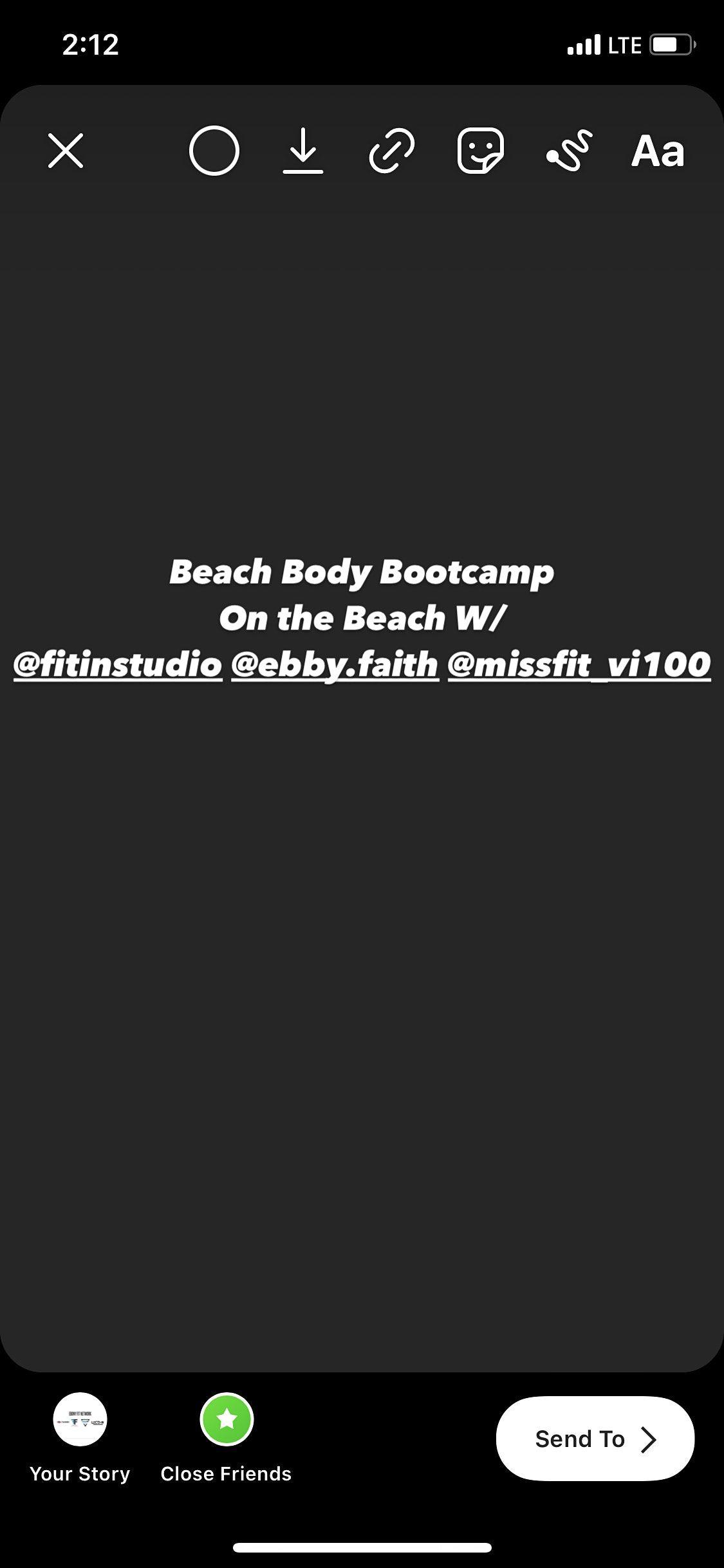 Beach Body Bootcamp on the beach\/ @fitinstudio @missfit_vi100 @ebby.faith