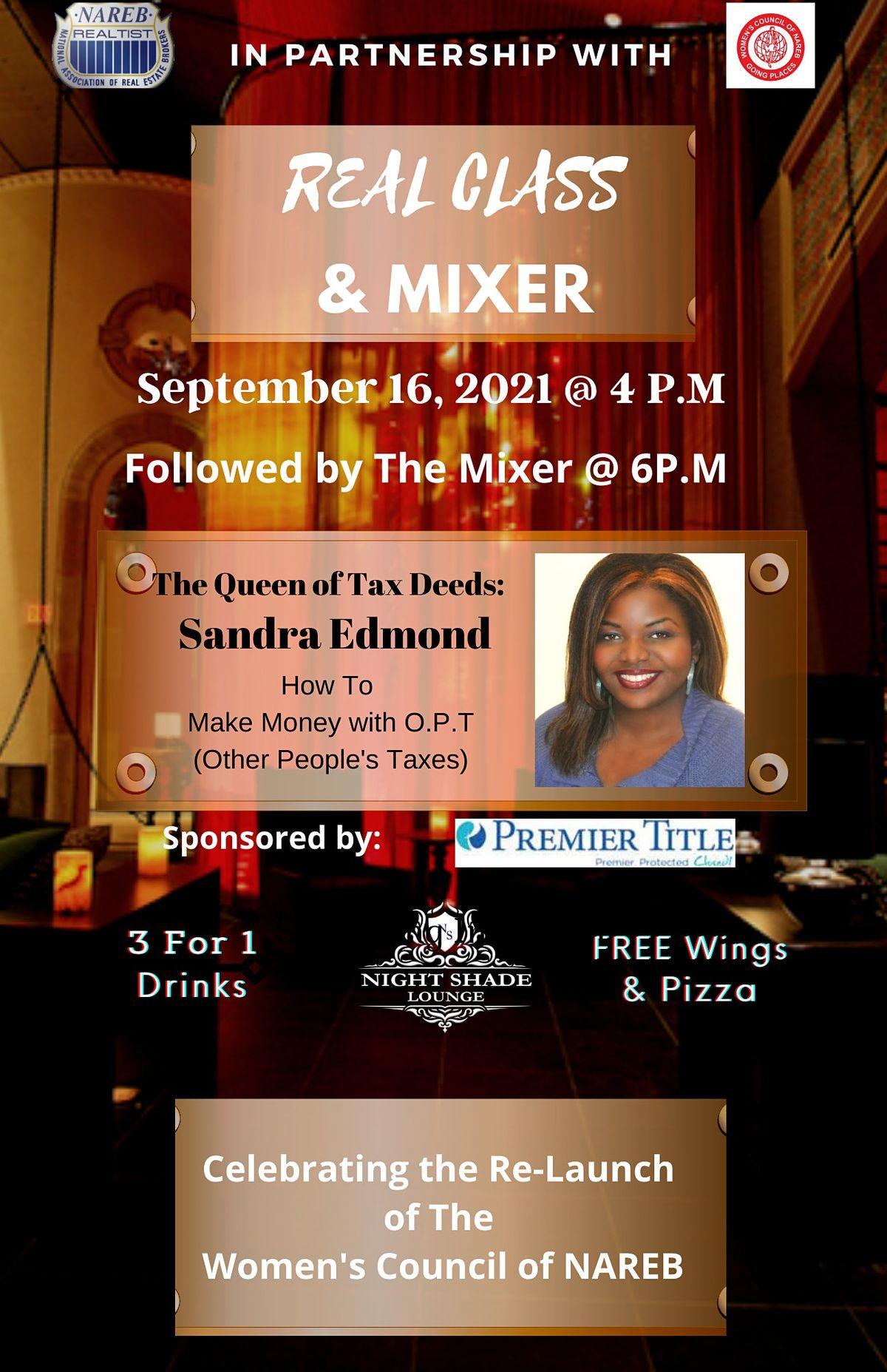 NAREB & The Women's Council Mixer w\/ Sandra Edmond, Queen of Tax Deeds
