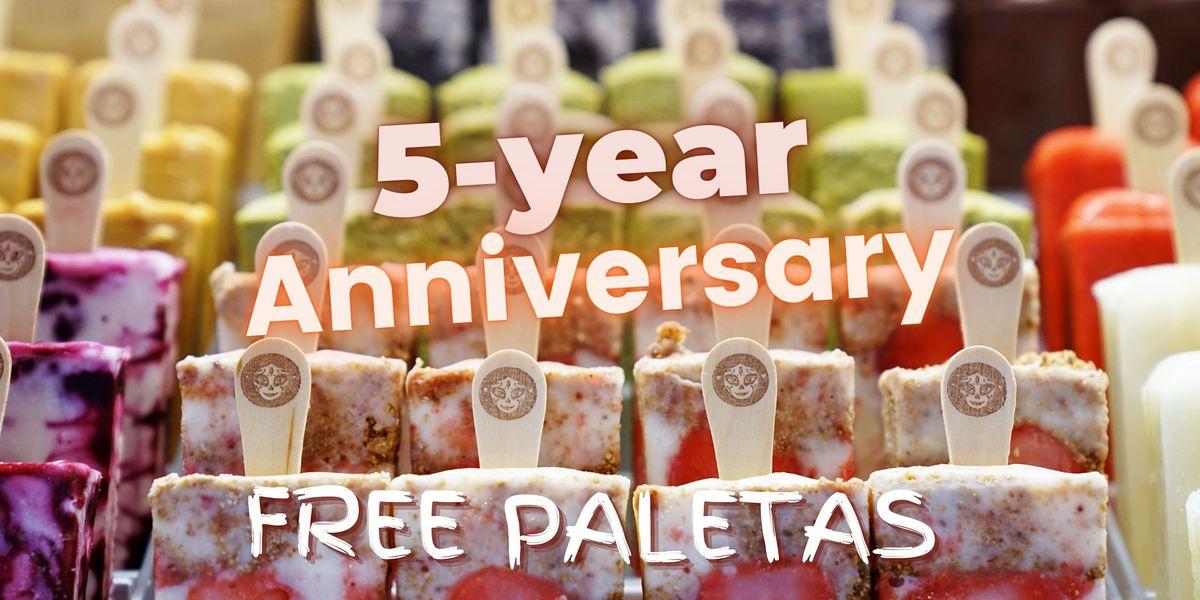 Morelia Free Paletas (Ice Cream) - 5 Year Anniversary - Miami Beach Store