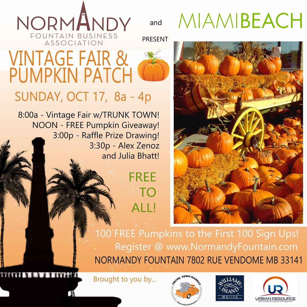 Vintage Fair & Pumpkin Patch at Normandy Fountain - Miami Beach