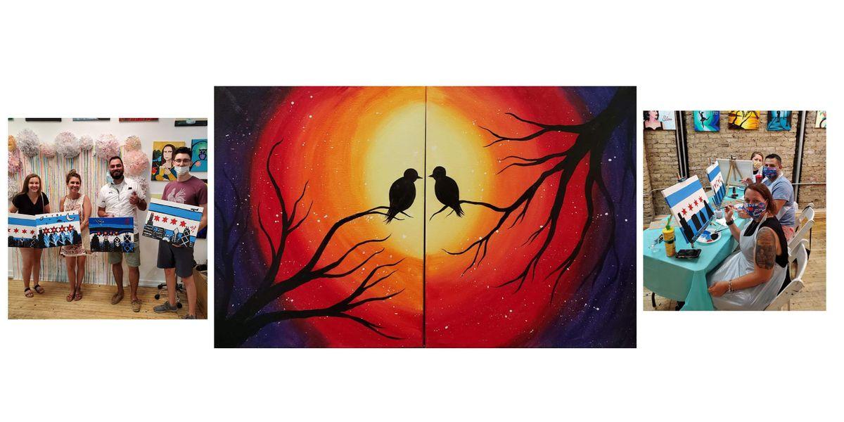BYOB Sip & Paint Event - \u201cLovebirds\u201d (Couple or Individual)